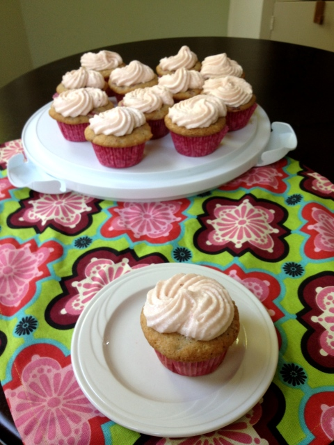 Strawberry Cupcakes w/ Strawberry Cream Cheese Frosting