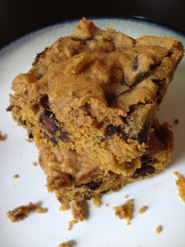 Pumpkin Chocolate Chunk Bars