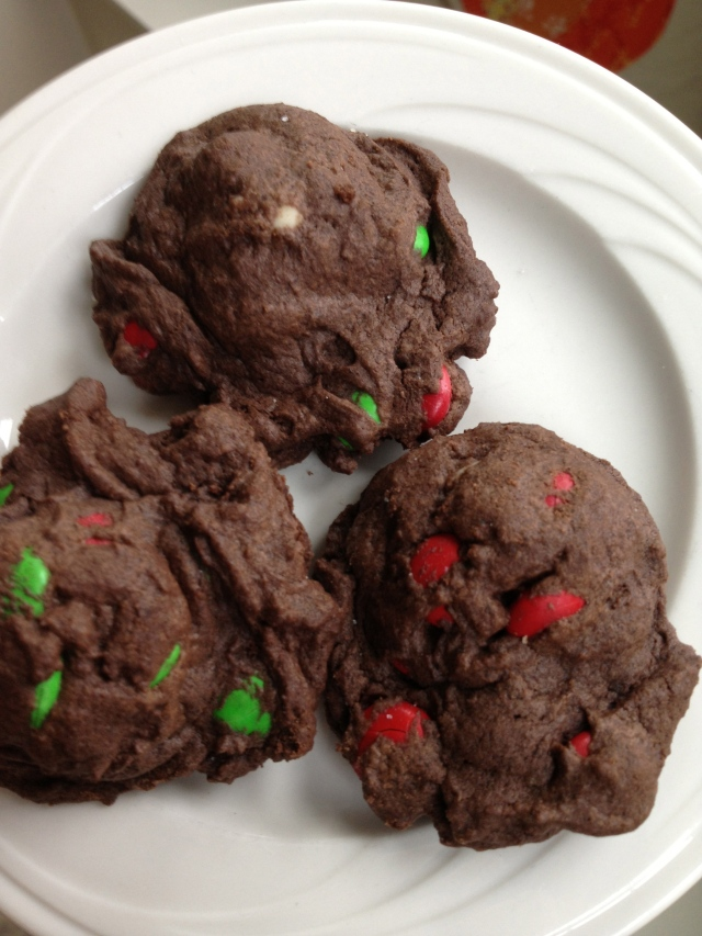 Triple Chocolate M&M Cookies from Hoping in God