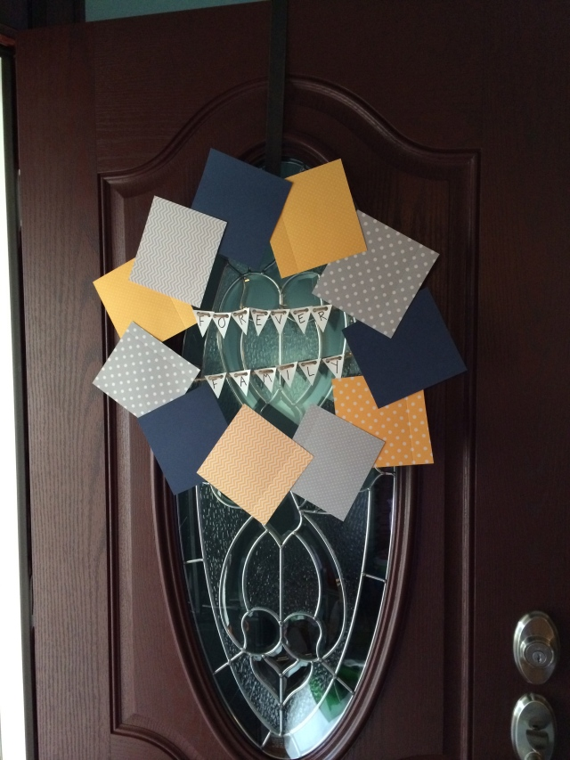 Paper Square Wreath